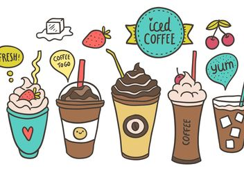 Free Iced Coffee Vector - Free vector #157171