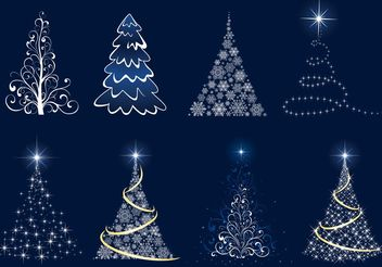Christmas Tree Vector Graphics - vector gratuit #157301