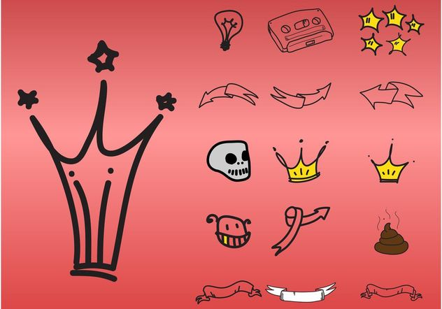 Doodle Icons - Free vector #157321