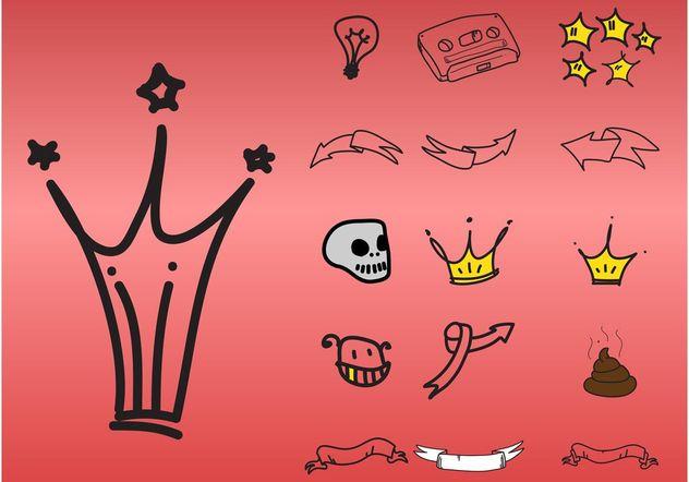 Doodle Icons - vector #157321 gratis