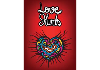 Free Love Hurts Heart Vector - vector #157561 gratis