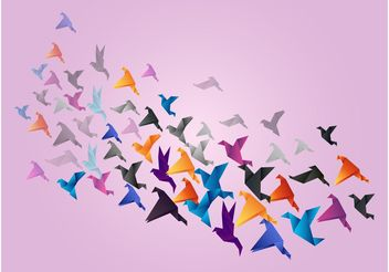 Paper Birds - бесплатный vector #157711