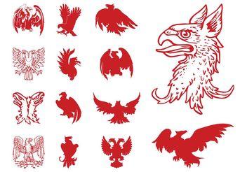 Heraldic Eagles Set - Kostenloses vector #157791