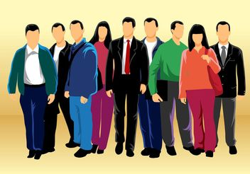 Group of People Vector - vector gratuit #157831