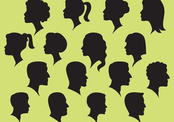 Woman And Man And Silhouette Vectors - Free vector #157861