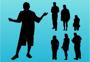People Silhouettes Images - vector #157901 gratis