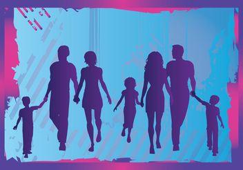 Family Vector - vector gratuit #157911