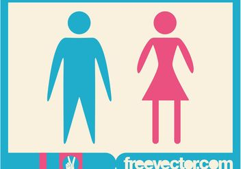 Man And Woman Icons - Free vector #157951