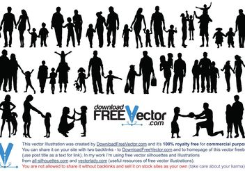 Free Vector of Family Silhouettes - vector gratuit #158051