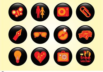 Design Buttons - vector gratuit #158241