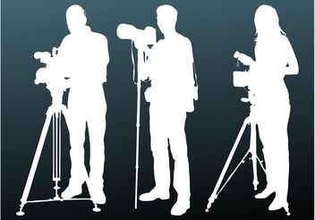 Photographers Silhouettes - Kostenloses vector #158251