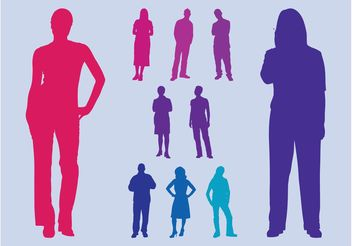 Colorful Silhouettes - Free vector #158271