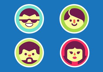 Faces Vector Pack - Free vector #158301