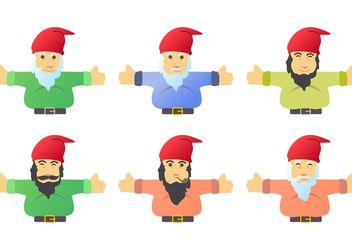 Gnome Character Vectors - бесплатный vector #158321