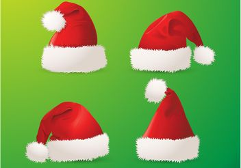 Santa Hats - vector gratuit #158371
