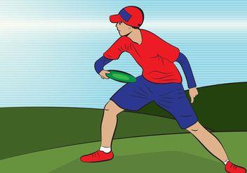 Frisbee Man Vector - Free vector #158431