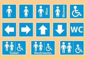 Blue Restroom Signals - Free vector #158461