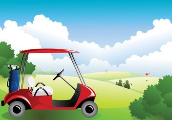 Golf Course - vector gratuit #158521