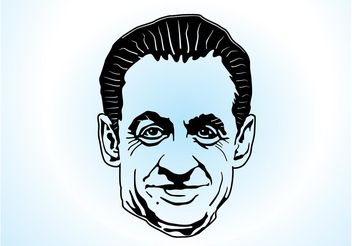 Sarkozy Vector Art - Free vector #158601