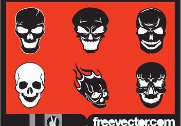 Skulls Set - Free vector #158691