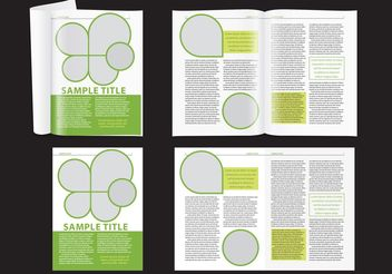 Modern Green Magazine Layout - vector gratuit #158701