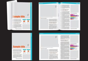 Financial Magazine Layout Template - vector gratuit #158741