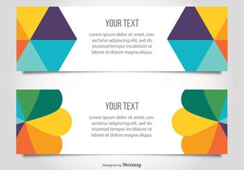 Colorful Modern Banner Templates - vector gratuit #158841