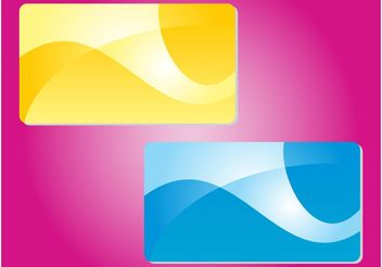Abstract Colorful Cards - Free vector #159011
