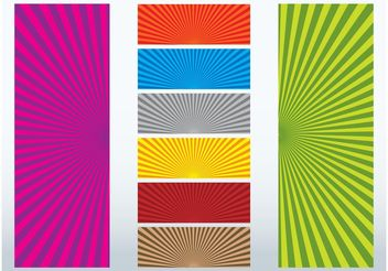 Colorful Ray Designs - vector gratuit #159021
