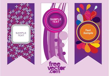 Purple Vector Banners - бесплатный vector #159101