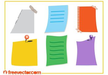 Colorful Notes Vectors - Free vector #159111