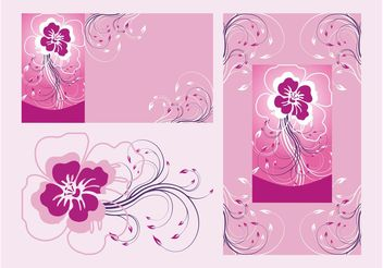 Floral Posters Vector - Kostenloses vector #159121