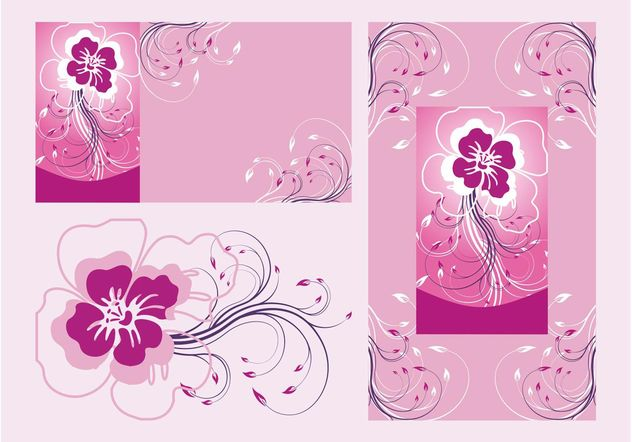 Floral Posters Vector - vector #159121 gratis