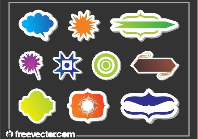 Sticker Graphics Shapes Set - vector #159131 gratis