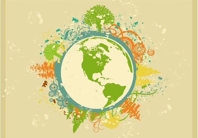 Grunge Globe Layout - vector #159401 gratis