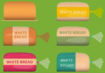 Vector White Bread Packages - vector gratuit #159461