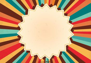 Retro Sunburst Background Illustration - Free vector #159481