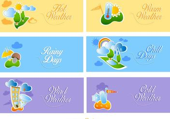 Cute Weather Banners - Free vector #159521