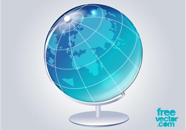 3D Globe Vector - Kostenloses vector #159641