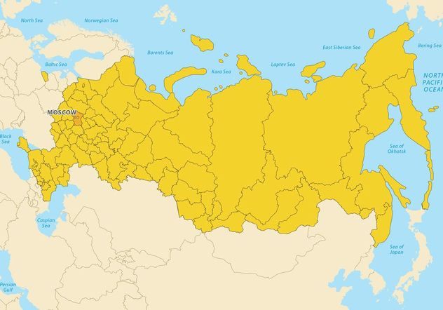 Russia Map Vector - Free vector #159651