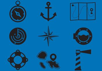 Nautical Vector Icons - Free vector #159671