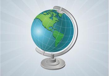Vector Globe Gadget - Kostenloses vector #159691