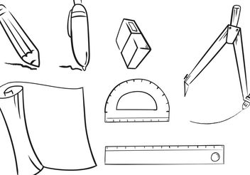 Flat Architecture Tools - Free vector #159741
