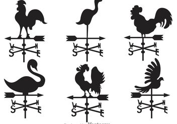 Weather Vane Vectors - Free vector #159751