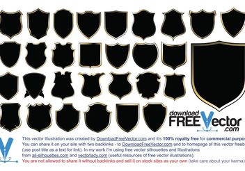 Coat of Arms Shield Vector Pack - vector #159981 gratis