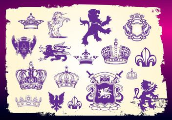 Medieval Heraldry Vectors - Free vector #160011