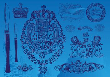 Vintage Emblems - vector gratuit #160041