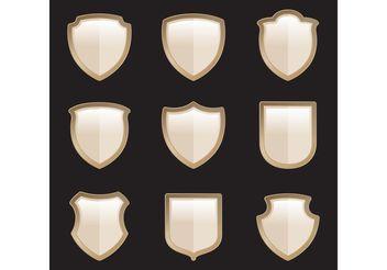 Gold Heraldic Shield Vectors - Free vector #160101