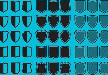 Shields Shape Vectors - Free vector #160121