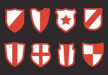 Shield Shapes Vector Set - Free vector #160171